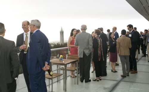 Academy guests on balcony of stadium