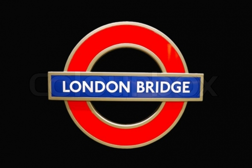 London Bridge Underground sign